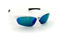 XX2i France1 White Gloss with Blue Flash lenses