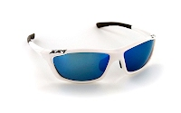 XX2i USA1 White Gloss with Blue Flash lens